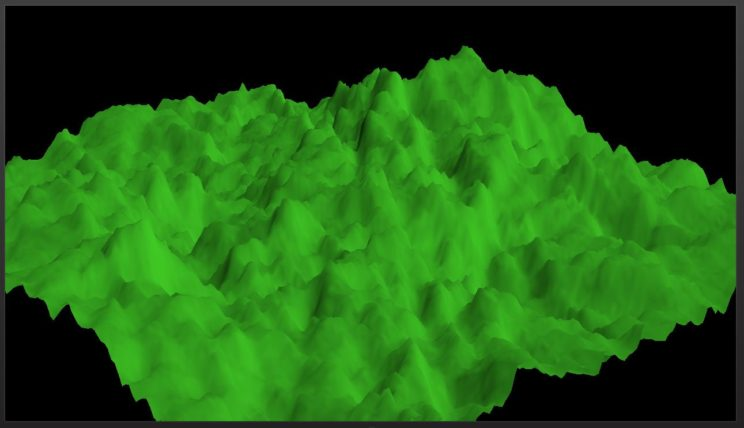200 iterations of the unstructured BSP Tree Fault Formation algorithm.